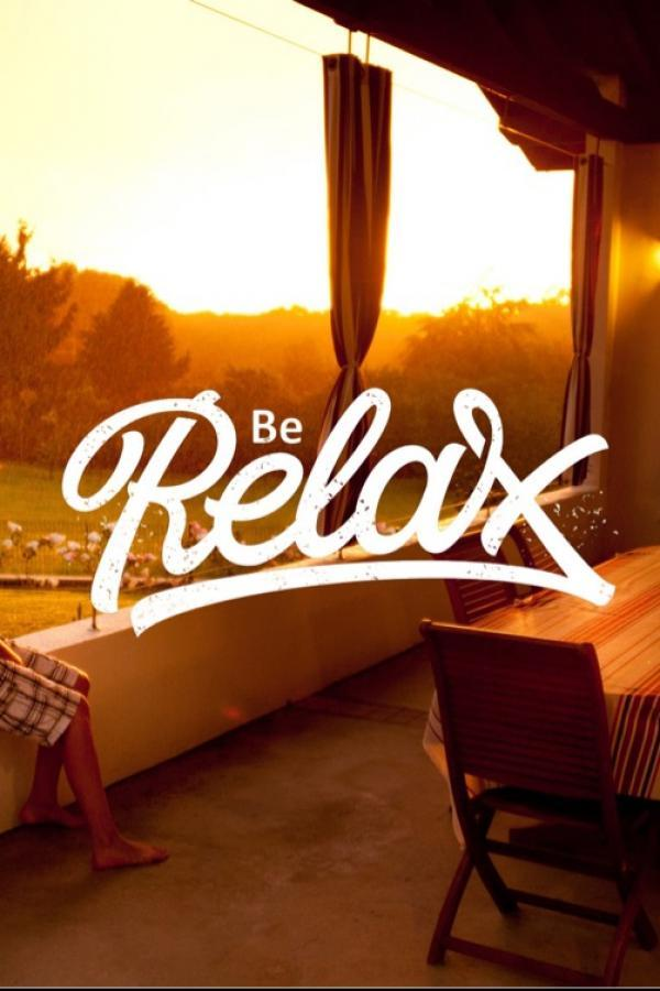typography Be Relax