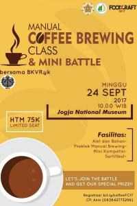Manual Coffee Brewing Class & Mini Battle with BKVR.yk