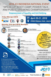 JCI Indonesia National Event Speak Up!