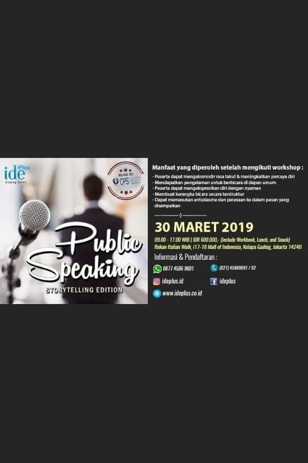 Public Speaking - Storytelling Edition Maret 2019
