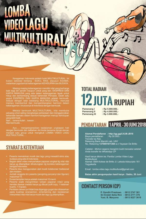 Lomba Video Lagu Multikultural