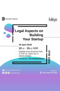 Legal Aspect on Building Your Startup
