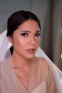 Modrl for Bridal Makeup Look by Riska Lee